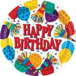 Platos-Redondos-de-Papel-Cumpleaños-Globos-y-Cornetas-8-piezas