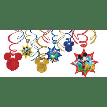 Decoraciones Colgantes en Espiral Mickey Mouse, 12 piezas