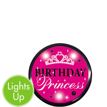 Botón Luminoso Cumpleaños Princesa