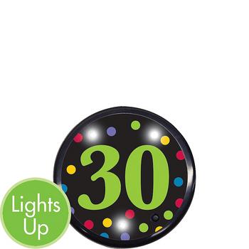 Botón Luminoso Cumpleaños