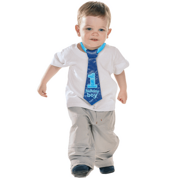 Corbata Primer Cumpleaños Azul