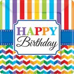 Platos-Cuadrados-de-Papel-Happy-Birthday-Grecas-Colores-8-piezas