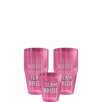Vasos de Plástico para Shot Team Bride, 40 piezas