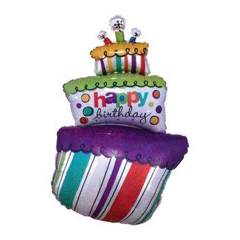 Globo en forma de Pastel Happy Birthday de 24 Pulgadas