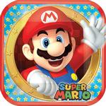 Platos-Cuadrados-de-Papel-Super-Mario-8-piezas