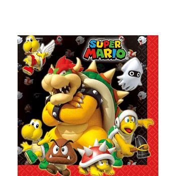 Servilletas para Lunch Super Mario, 16 piezas