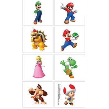 Planilla de Tatuajes Temporales Super Mario