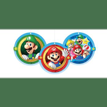 Decoraciones Colgantes Super Mario, 3 piezas
