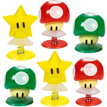Figuras Saltarinas Super Mario, 6 piezas
