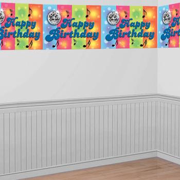 Banner Gigante Happy Birthday Globos