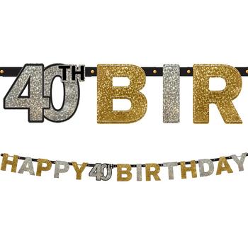 Banner Happy Birthday Celebración 40