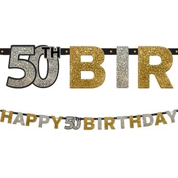 Banner Happy Birthday Celebración 50