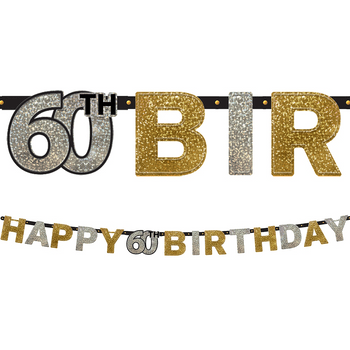 Banner Happy Birthday Celebración 60