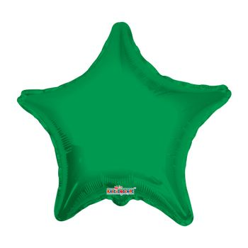 Globo Metálico Estrella Verde Bandera, 22 Pulgadas