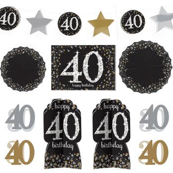 Kit de Decoración para Habitación Celebración 40, 10 piezas