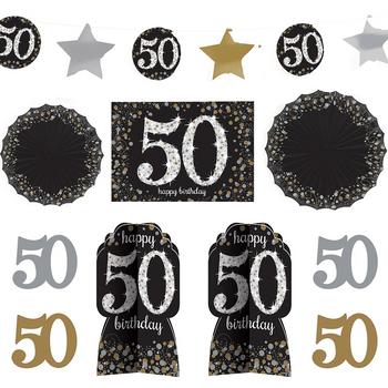 Kit de Decoración para Habitación Celebración 50, 10 piezas