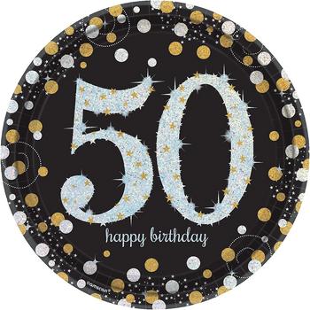 Platos de Papel Celebración 50 - 9 Pulgadas, 8 piezas