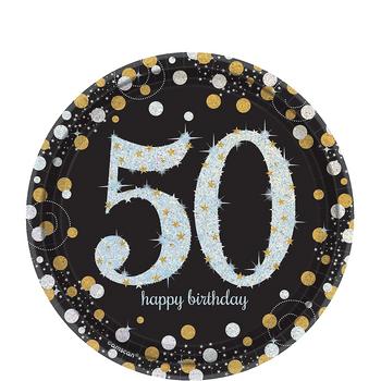 Platos de Papel Celebración 50 de 7 Pulgadas, 8 piezas