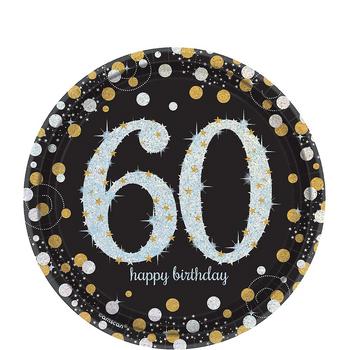 Platos de Papel Celebración 60 de 7 Pulgadas, 8 piezas