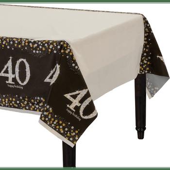 Mantel de Plástico Celebración 40