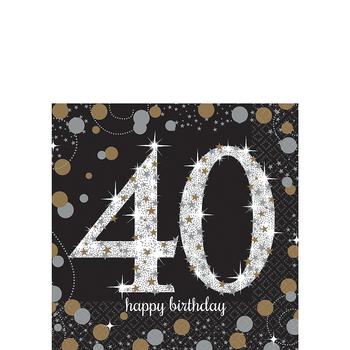Servilletas para Bebidas Celebración 40, 16 piezas