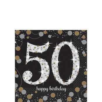 Servilletas para Bebidas Celebración 50, 16 piezas