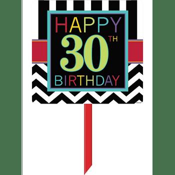 Letrero para Jardín Celebración 30 Grecas