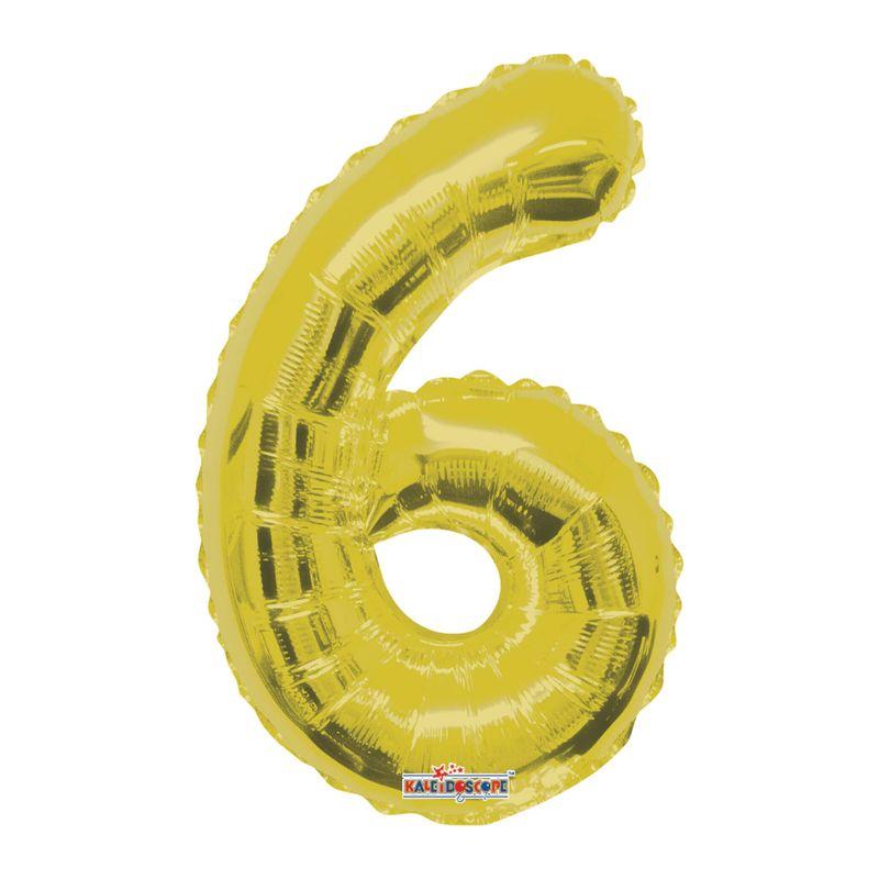 Mini-Globo-Metalico-Dorado-Numero-6-14-Pulgadas