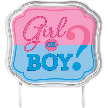 Adorno para Pastel Revelación de Género Girl or Boy
