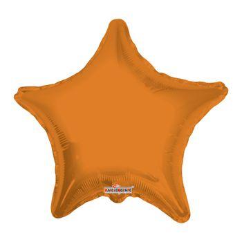Globo Metálico Estrella Naranja, 22 Pulgadas