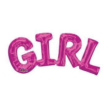 Globo Metálico Rosa Girl de 22 pulgadas