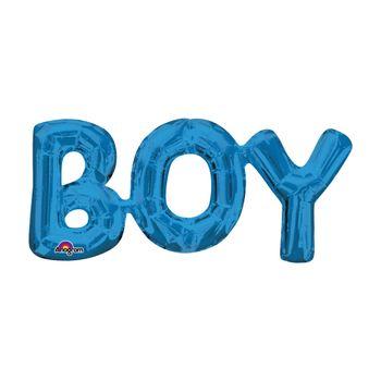Globo Metálico Azul Rey Boy de 20 pulgadas
