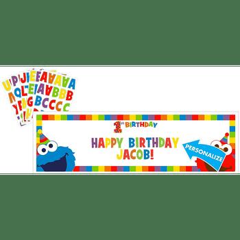 Kit Banner de Cumpleaños Personalizable Elmo