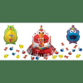Kit de Decoración para Mesa Elmo Primer Cumpleaños, 23 piezas