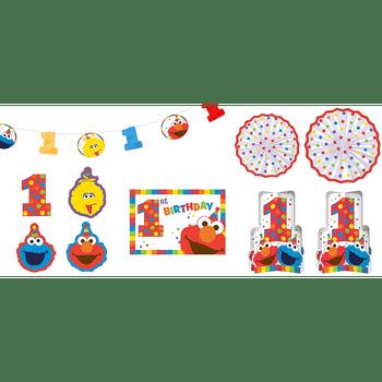 Kit de Decoración para Habitación Elmo Primer Cumpleaños, 10 piezas