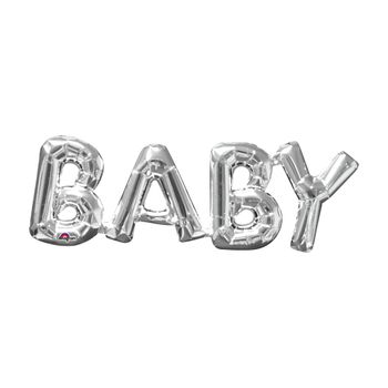 Globo Metálico Plata Baby de 26 pulgadas
