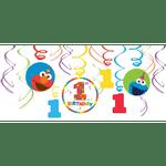 Decoraciones-Colgantes-en-Espiral-Elmo-Primer-Cumpleaños