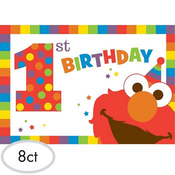 Invitaciones Elmo Primer Cumpleaños, 8 piezas