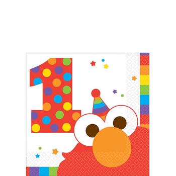 Servilletas para Bebidas Elmo Primer Cumpleaños, 16 piezas