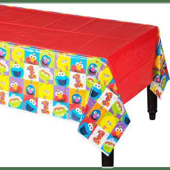 Mantel de Plástico Elmo Primer Cumpleaños