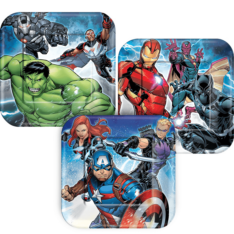 Platos-Cuadrados-de-Papel-Avengers-8-piezas