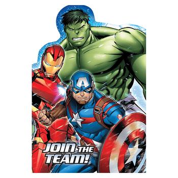 Invitaciones Avengers, 8 piezas