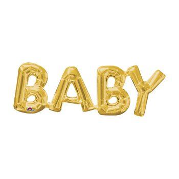 Globo Metálico Dorado Baby de 26 pulgadas