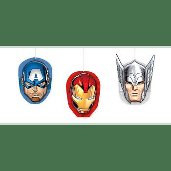 Decoraciones Colgantes de Papel Avengers, 3 piezas