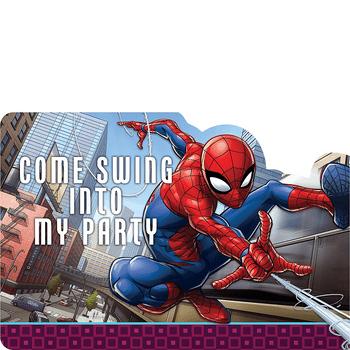 Invitaciones Spiderman, 8 piezas