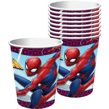 Vasos de Papel Spiderman, 8 piezas