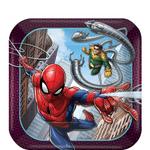 Platos-Cuadrados-de-Papel-Spiderman-8-piezas