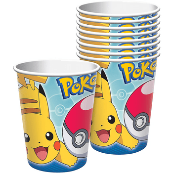 Vasos de Papel Pokémon, 8 piezas
