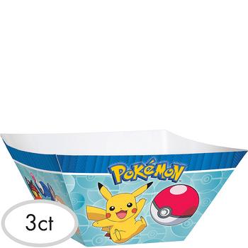 Tazones de Papel Pokémon, 3 piezas