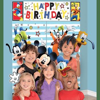 Montaje Escénico con Accesorios para Fotos Mickey Mouse